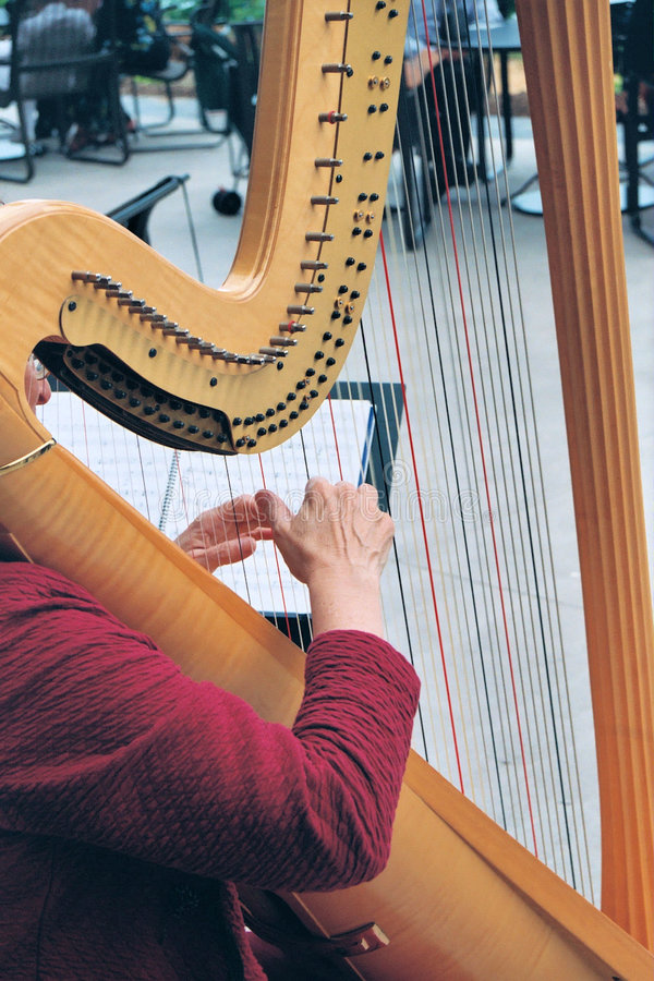 Download Hands On The Harp Royalty Free Stock Image - Image: 7558376