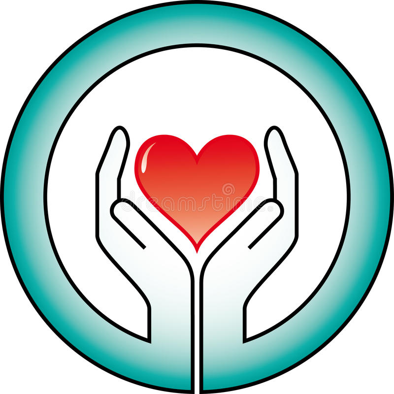 Download Hands and heart stock vector. Illustration of cardiology - 9656142