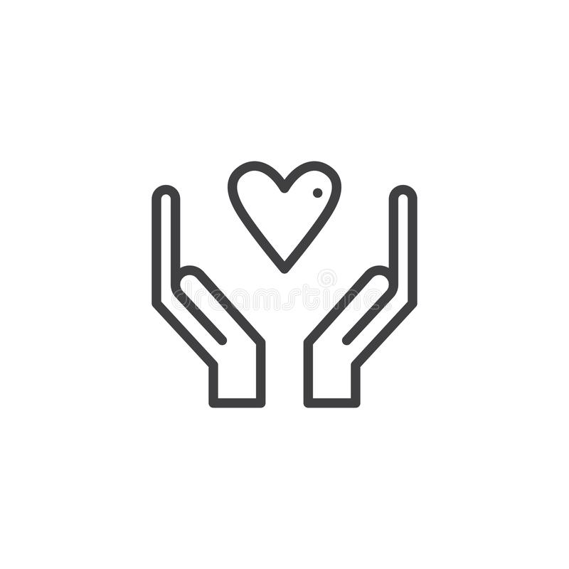 Hands with heart icon vector vector illustration