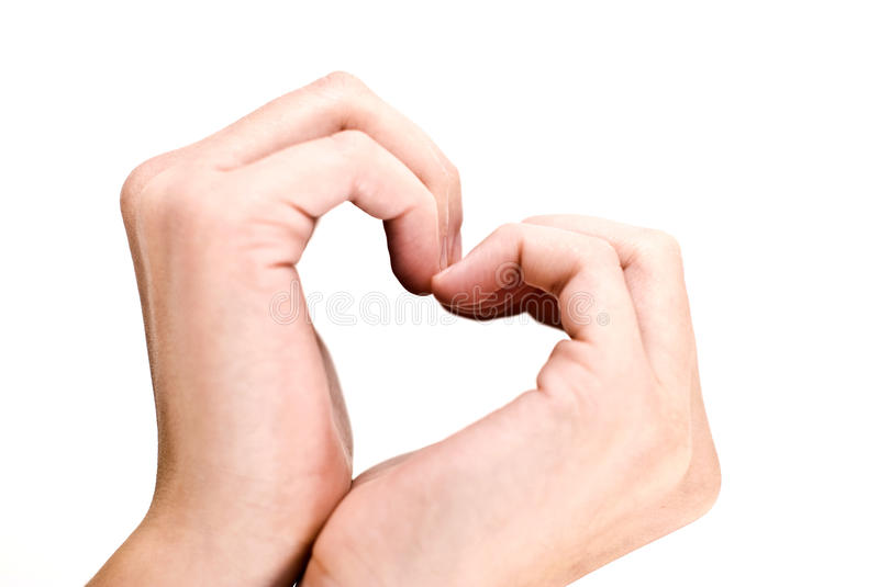 Hands in heart shape, love stock images