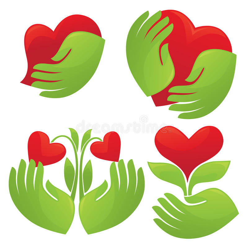 Download Hands and hearts stock vector. Illustration of health - 20915112