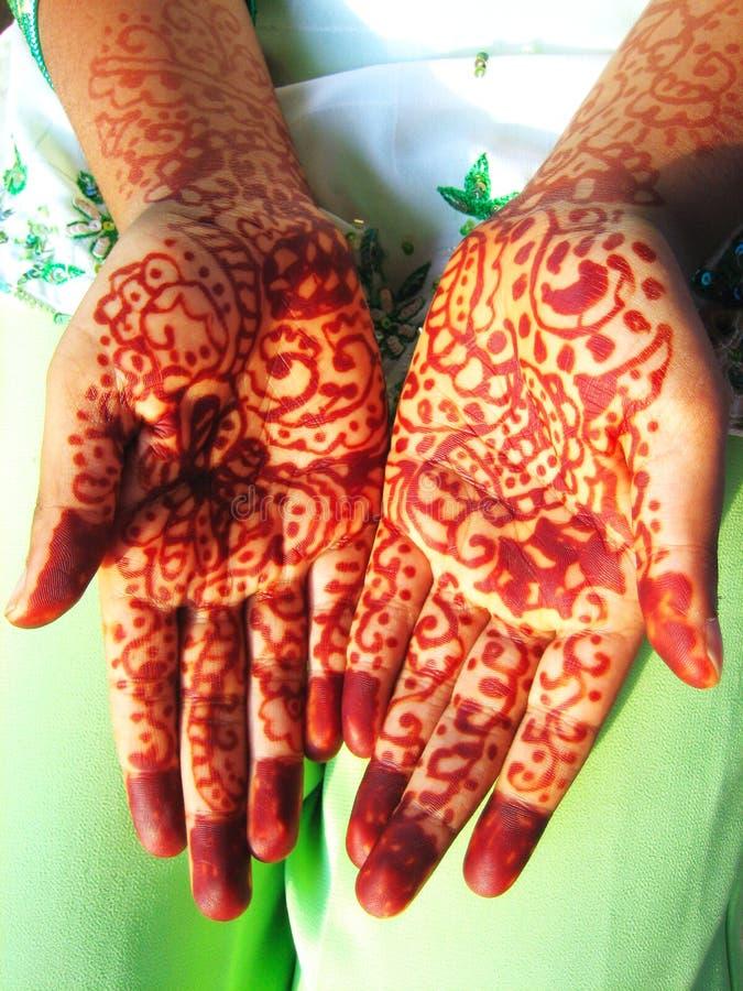 hands henna royaltyfri bild