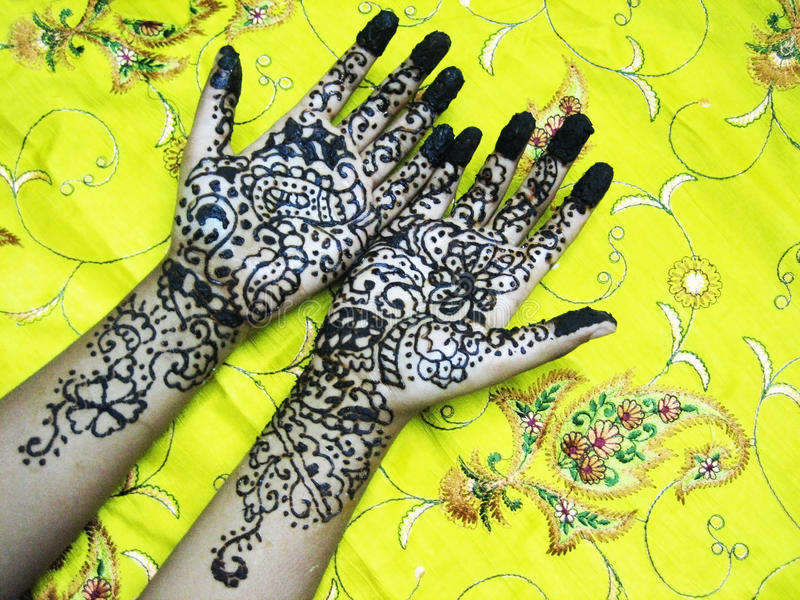 hands henna royaltyfria foton
