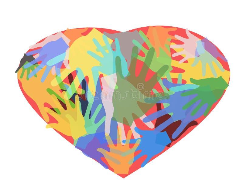 hands hjärta royaltyfri illustrationer