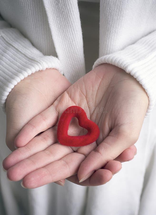 hands hjärtaholdingen arkivbild