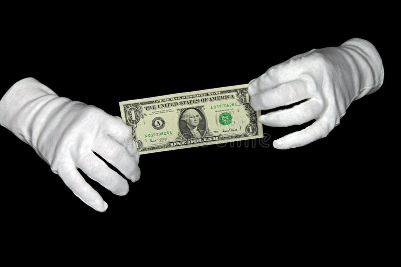 Hands hold dollar royalty free stock photo