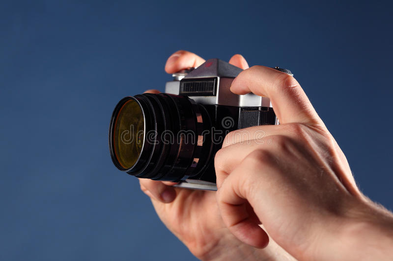 Download Hands Hold Small Old Camera Stock Images - Image: 28969234