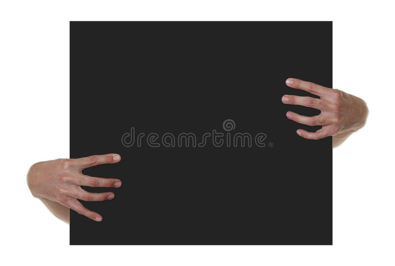 Download Hands Holding Black Blank Sign Royalty Free Stock Images - Image: 1731159