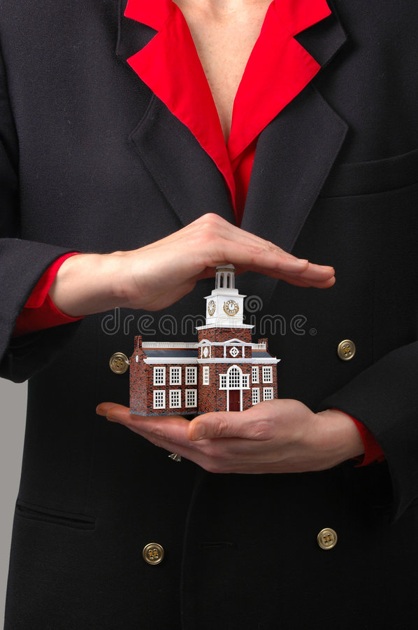 Free Hands Holding Commercial Building Stock Images - 1613434