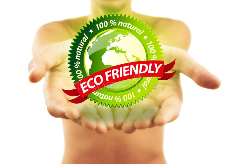 Download Hands Holding Eco Friendly Sign Stock Image - Image of concept, palm: 16211625