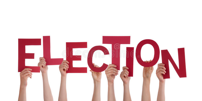 Hands Holding Election Stock Photo