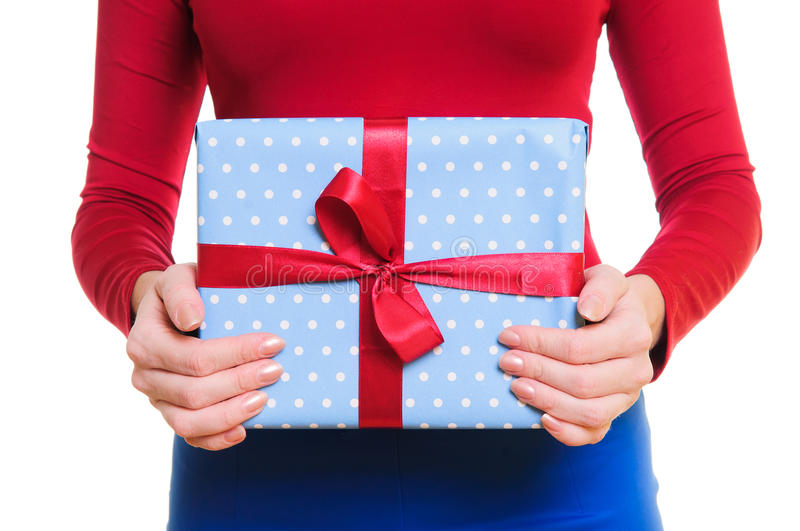 Download Hands holding gift box stock photo. Image of female, holding - 27495002