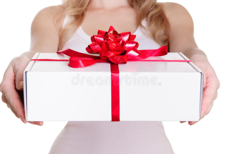 Download Hands Holding Gift Box Royalty Free Stock Images - Image: 28924119