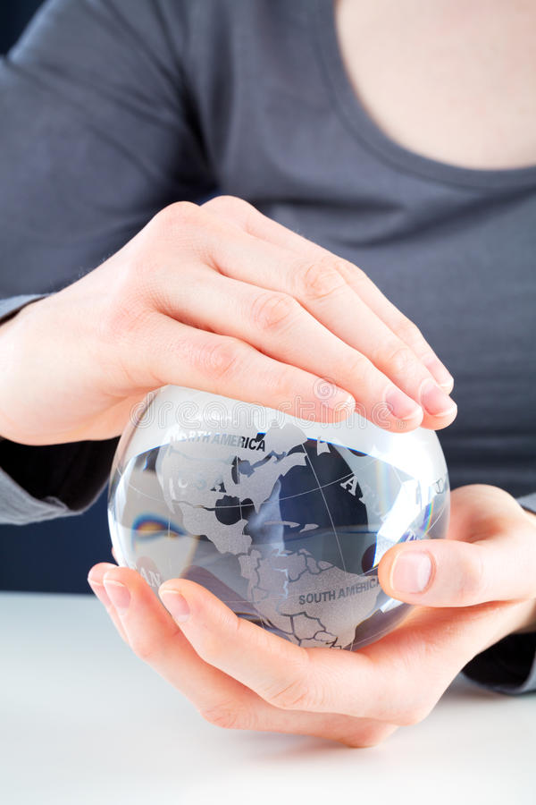 Download Hands Holding A Glass Globe Royalty Free Stock Photography - Image: 29589957