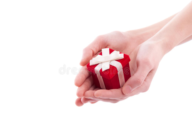 Hands holding heart close up royalty free stock photos