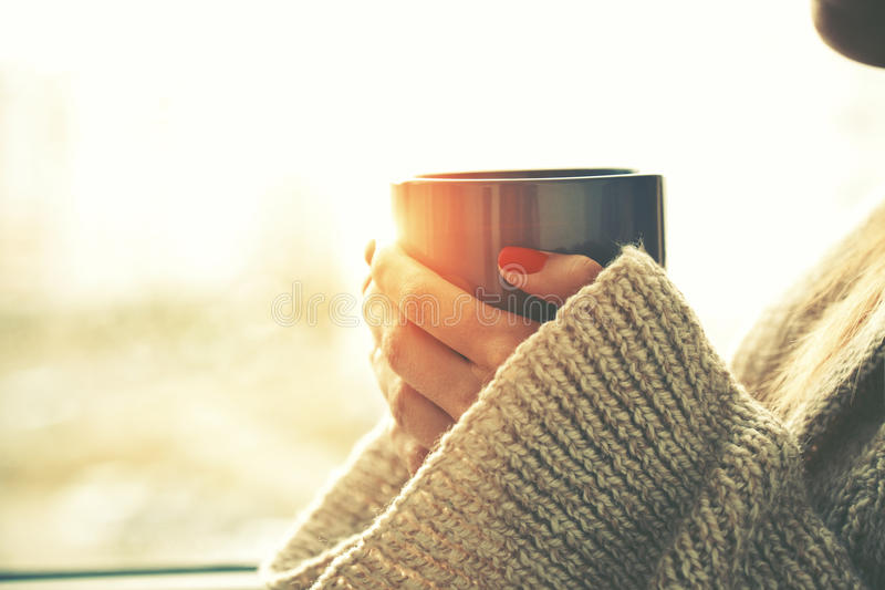 Download Hands Holding Hot Cup Of Coffee Or Tea Stock Image - Image of holding, fresh: 60058873