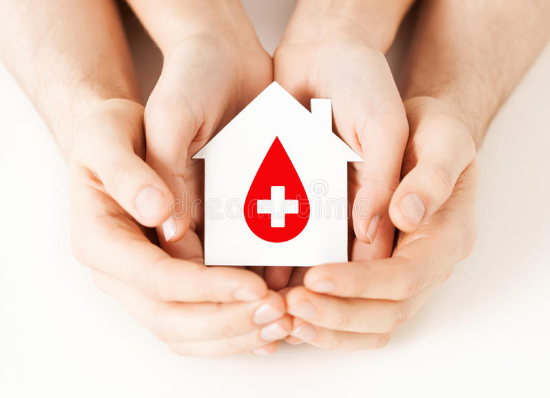 Download Hands Holding House With Donor Sign Stock Photo - Image: 38521044