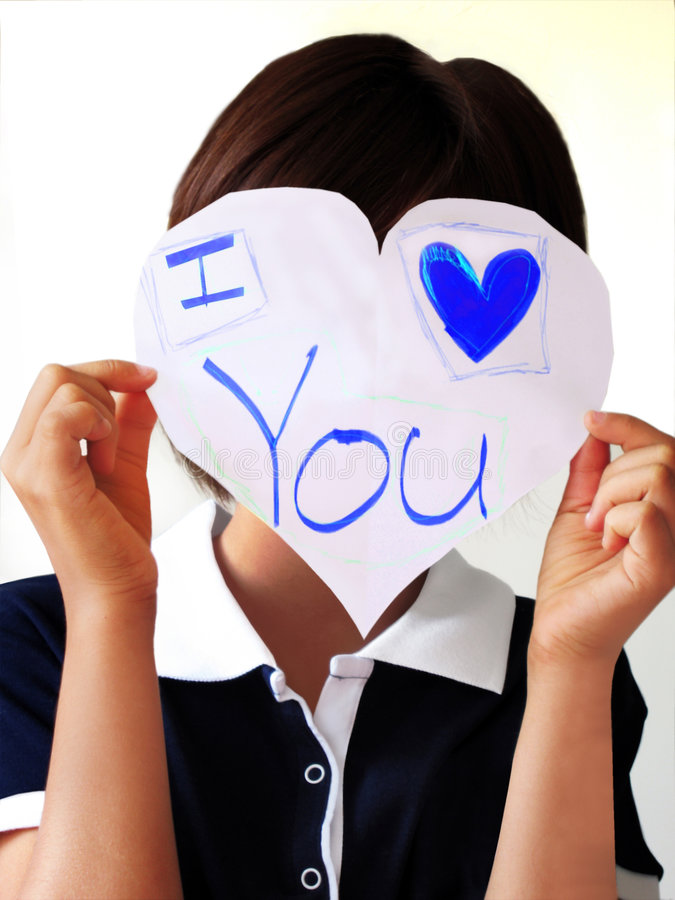 Hands Holding I Love You stock photography