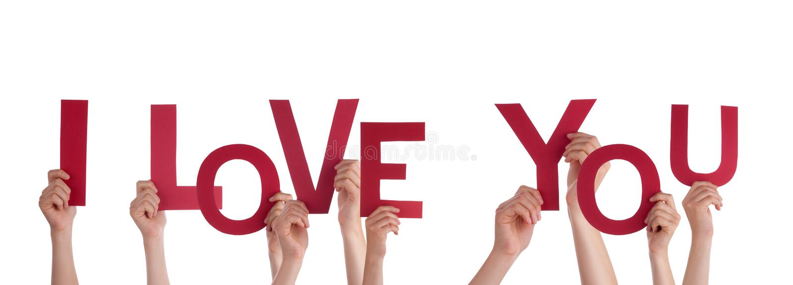 Hands Holding I love You royalty free stock images