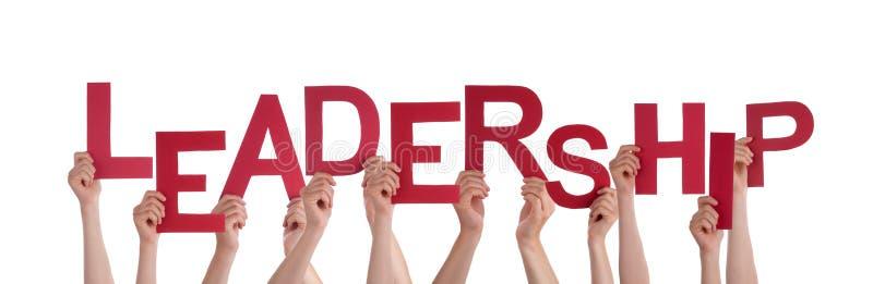 Hands Holding Leadership stock photo