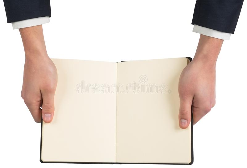 Hands holding open book royalty free stock images