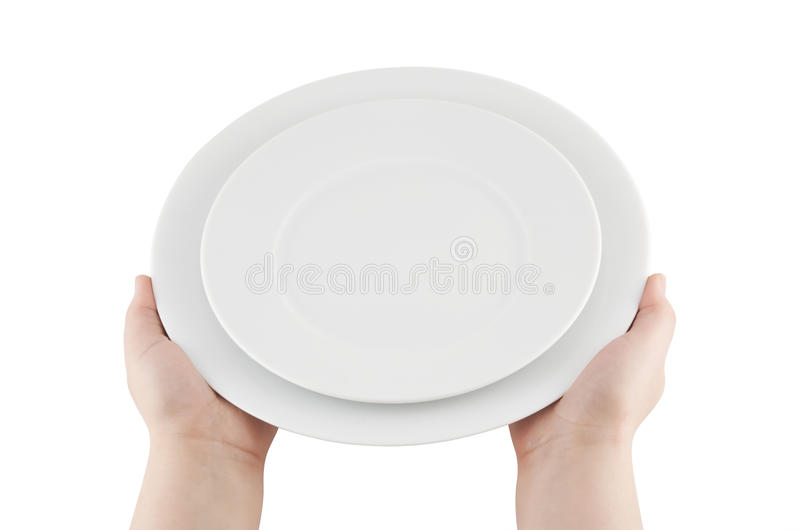 Download Hands Holding Plates With Clipping Path Stock Image - Image: 9418351