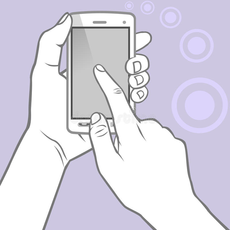 Hands Holding The Smart Phone Stock Photo