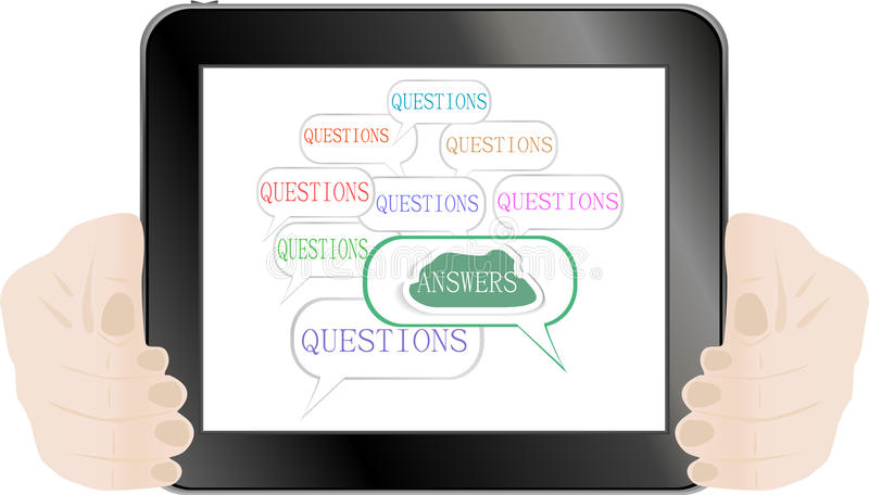 Download Hands Holding Tablet Pc Isolated On White Stock Vector - Image: 23119536