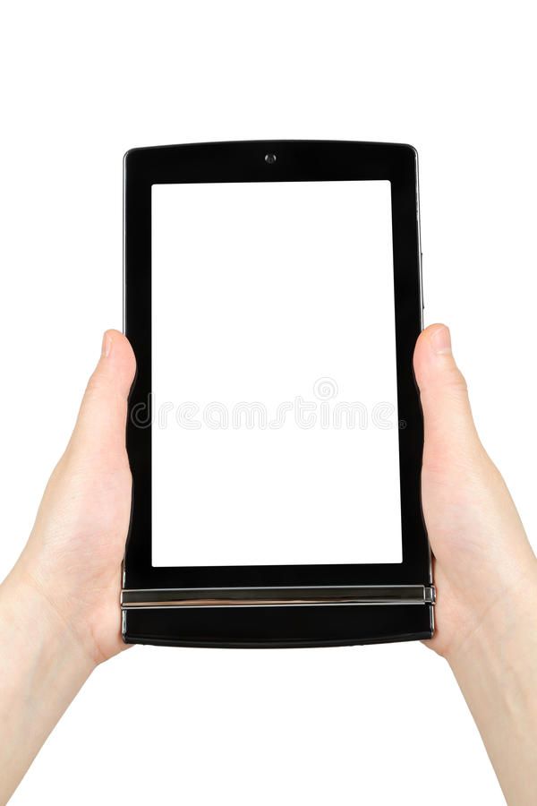 Download Hands Holding Touch Screen Tablet Pc Stock Image - Image: 32043997