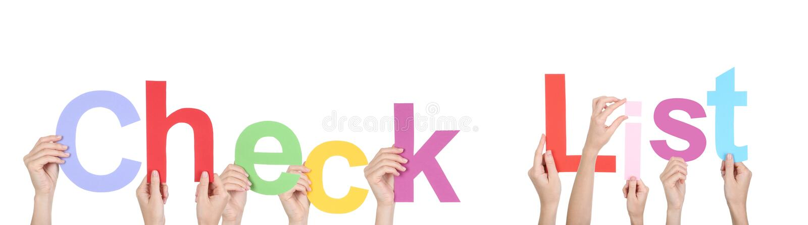 Word Check List stock images