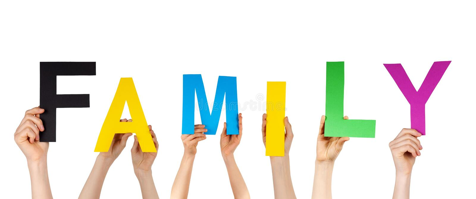 Download Hands Holding The Word Family Stock Image - Image: 31353131