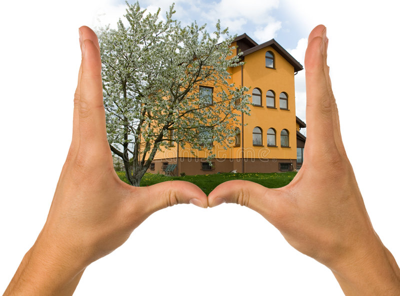 Hands And House Royalty Free Stock Photo