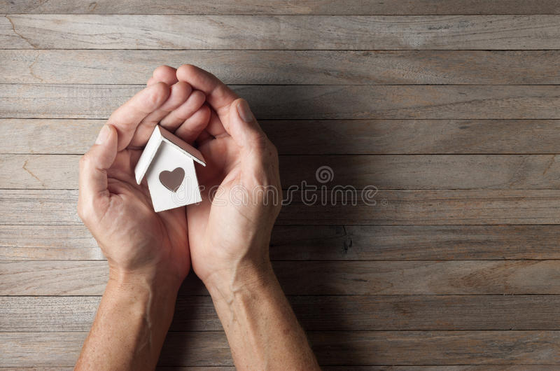 Hands House Home Love Background royalty free stock photography