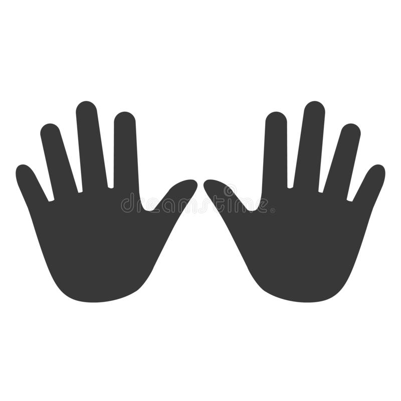Hands icon, hand icon vector, in trendy flat style isolated on w royalty free illustration