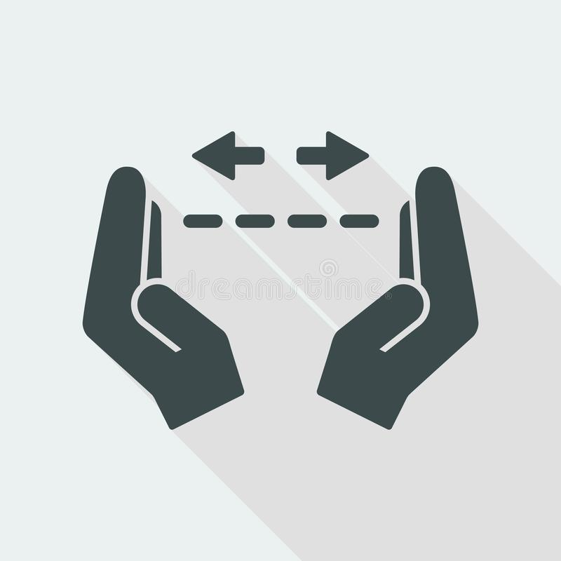 Free Hands In Gesture Of Measuring - Vector Minimal Icon Stock Image - 117826441