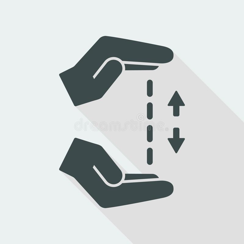 Free Hands In Gesture Of Measuring - Vector Minimal Icon Stock Images - 117826634