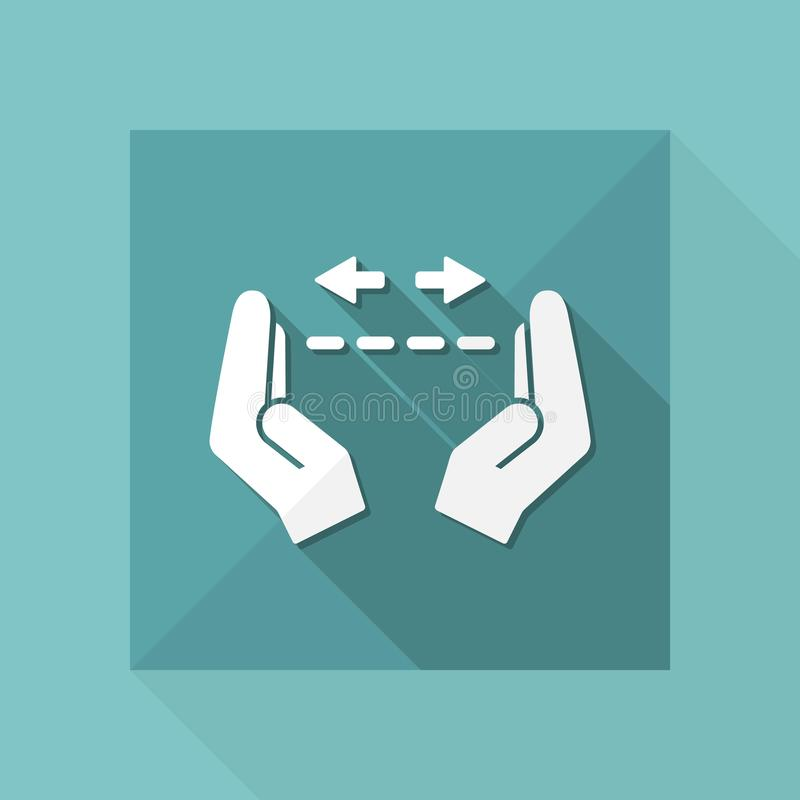Free Hands In Gesture Of Measuring - Vector Minimal Icon Royalty Free Stock Photos - 119151378