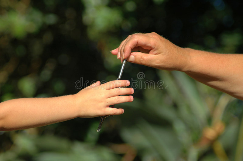 Download Hands with key of life stock photo. Image of granny, help - 2005114
