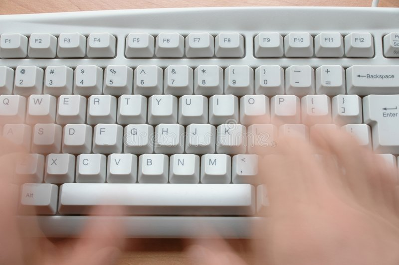Hands and Keyboard royalty free stock photos