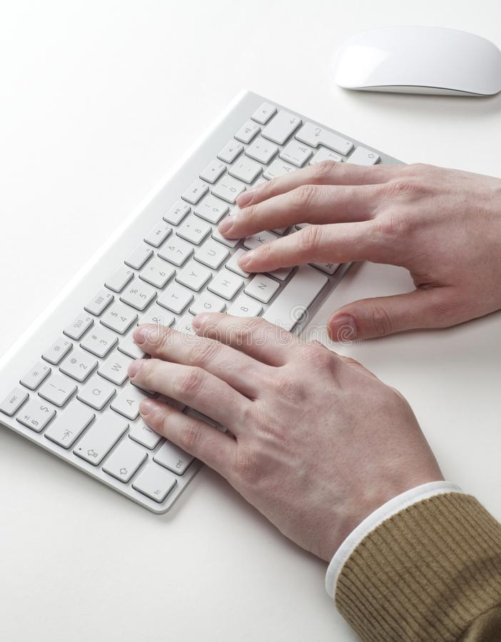 Using keyboard closeup royalty free stock photo
