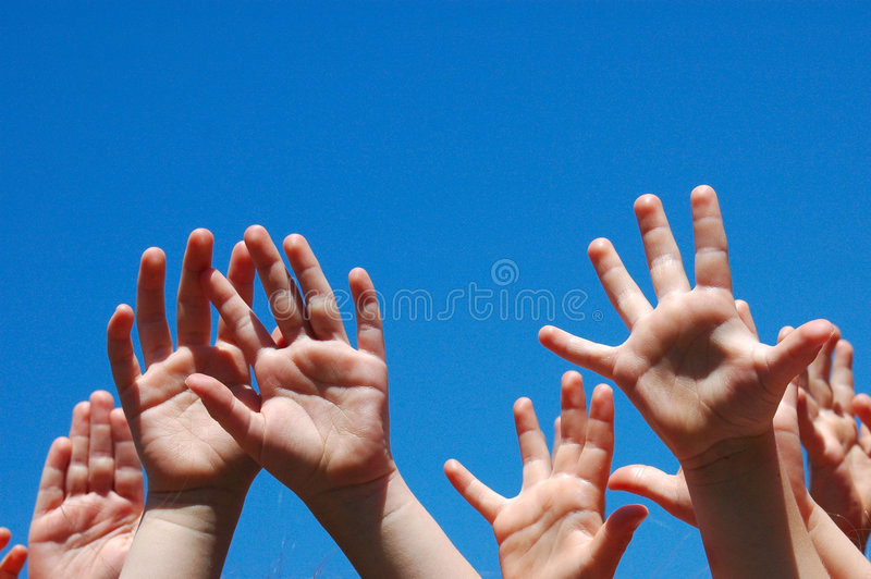 Hands of kids royalty free stock images