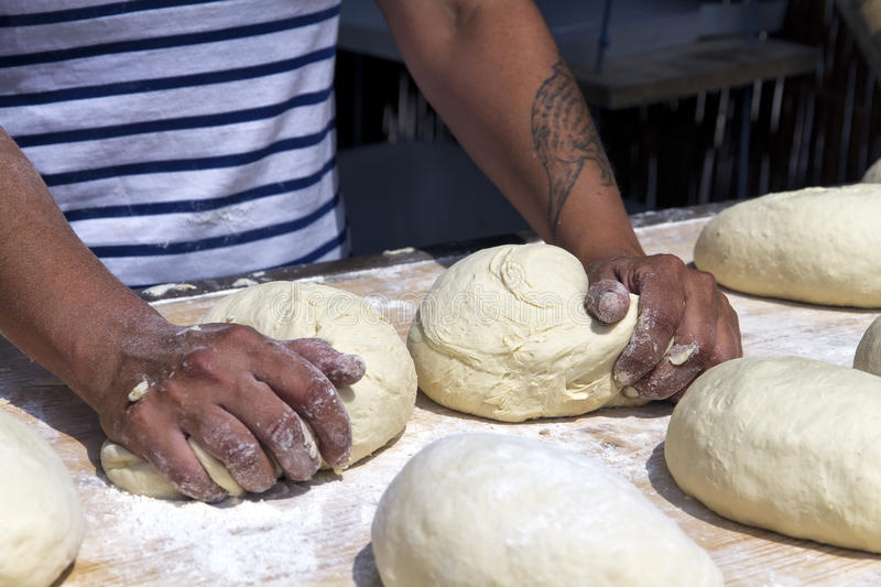 Download Hands kneading bread stock photo. Image of creative, kitchen - 25244482