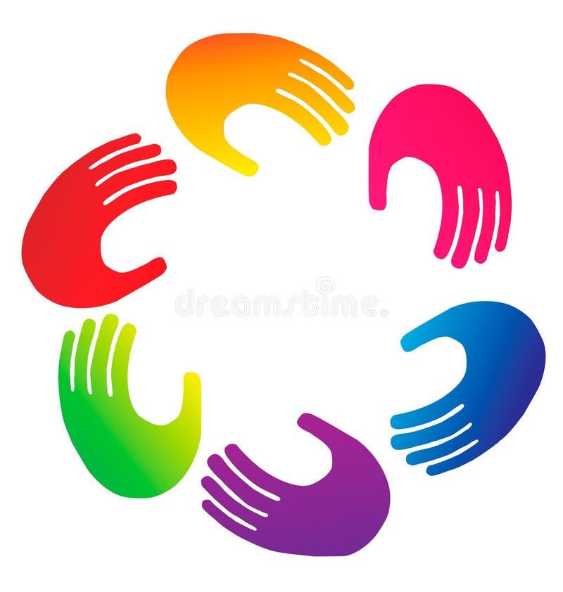 Hands logo vector illustration