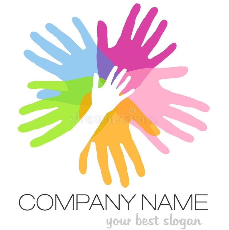 Download Hands Logo stock illustration. Illustration of active - 40261118
