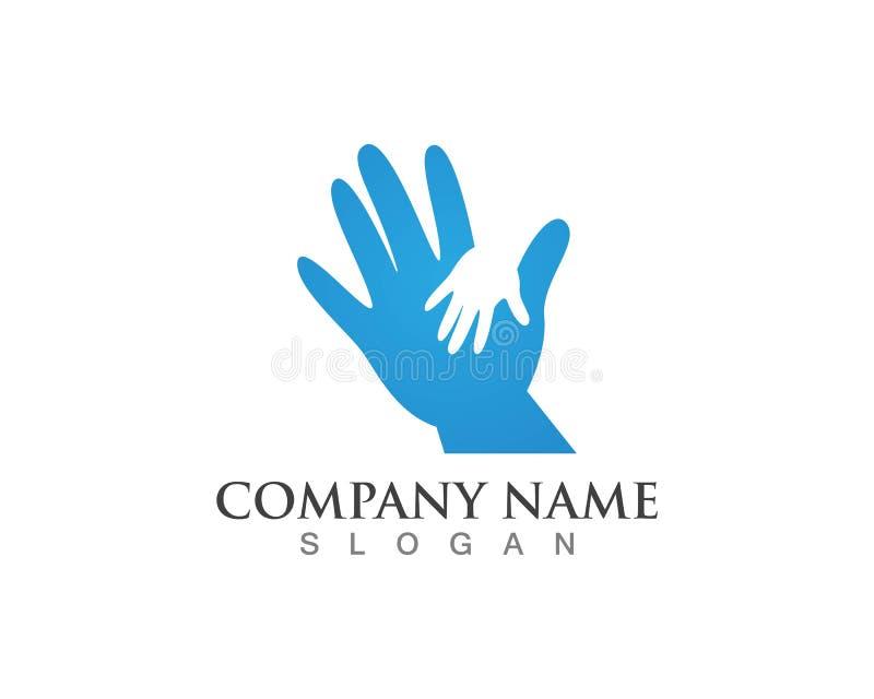 Hands logos symbols vectors template.  vector illustration