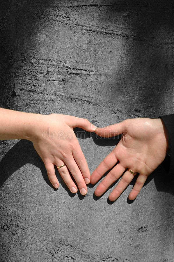 Hands of love royalty free stock photography