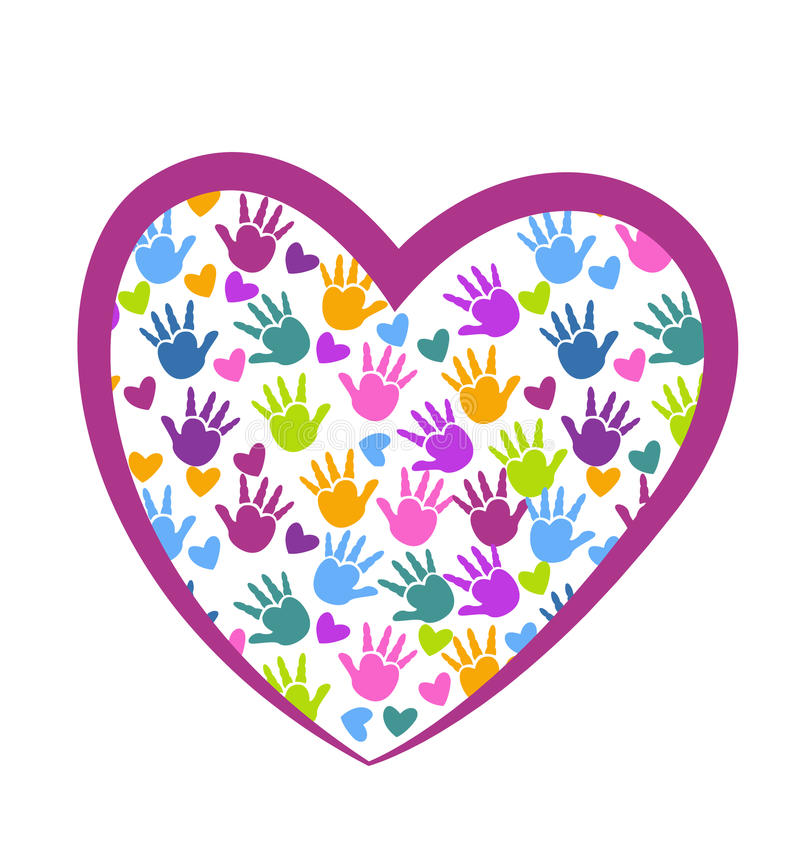 Hands of love logo stock illustration
