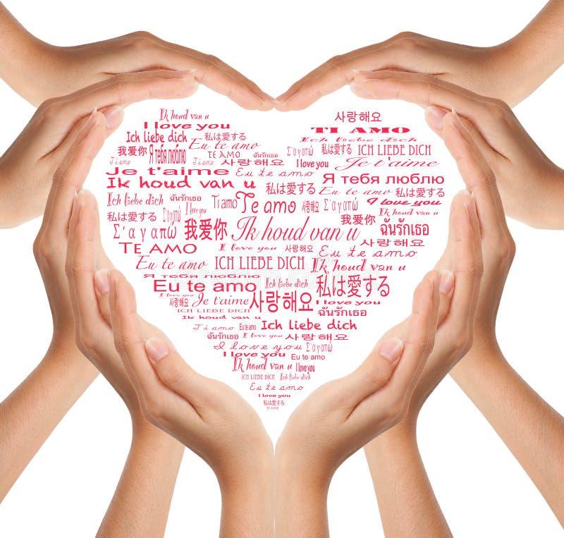 Hands make heart shape royalty free stock photography