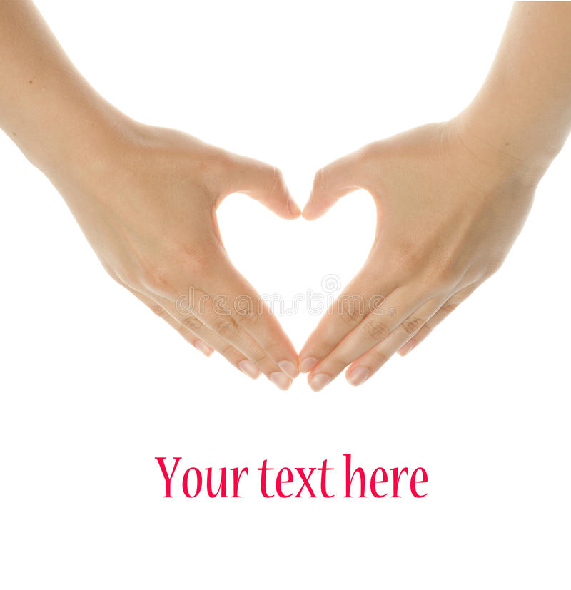 Download Hands make heart shape stock photo. Image of isolated - 24775216