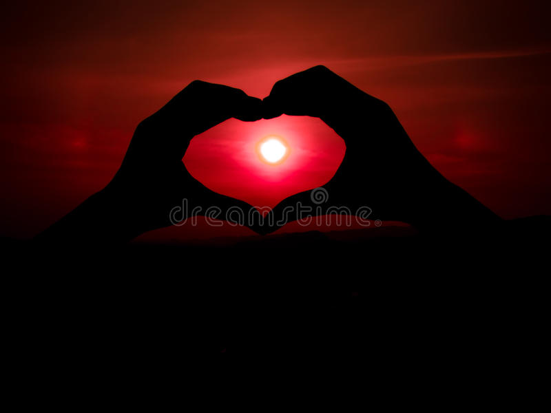 hands make heart shape royalty free stock images